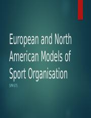 European and North American Models of Sport Organisation week 3.pptx