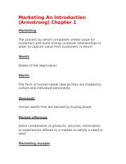 Marketing An Introduction Ch 1 .docx