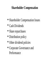 Lecture 5 - Compensating shareholders.pptx