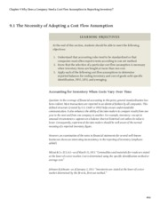 business-accounting Chapter 9 Why Does a Company Need a Cost Flow Assumption in Reporting Inventory.