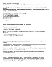 Nursing Care Plan week 2.2 - Assignment