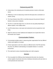SPH 2173 Outsourcing and PDI & Persuasive Speech Handout Homework