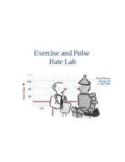 exercise and pulse rate lab