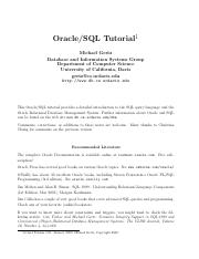 Oracle SQL tutorial