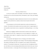 Business Research Paper English