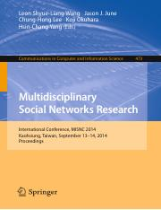 Multidisciplinary Social Networks Research - Opinion Leadership and Negative Word-of-Mouth Communica