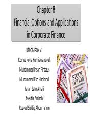 CHAPTER 8 - FINANCIAL OPTION AND APPLICATION.pptx