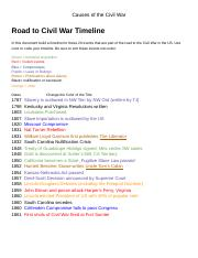 Causes of the Civil War - Chyna Douglas.docx