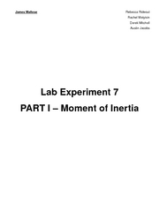 Lab 07 - Moments of Inertia