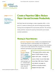 5.Create a Paperless Office - Must