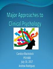 Major Approaches to Clinical Psychology.ppt