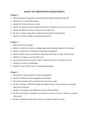 MGMT 370 - Midterm Exam Study Guide - Chapters 1-6