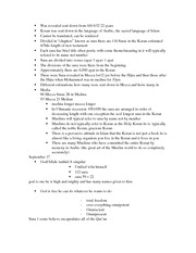 Islam Notes 7-10