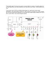 This Traffic Light Circuit can be used to control traffic on roads or in public places.docx