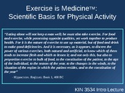 ***Scientific Basis for Exercise 3534 Test 2