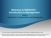 Week 1 Introduction to Organisations and Management (Sunway) - Updated (1)