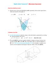 Math 1014  (Revision Exercise for Mid Term Exam)
