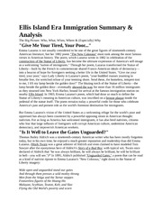 Ellis Island Era Immigration Summary
