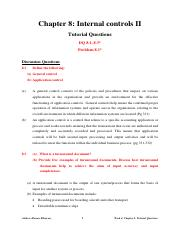 Week 4 _ Chapter 8 _ Answers to the Tutorials Questions