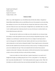 Profile essay English 101 Section 25