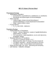 BIO 373 - exam 2 review sheet