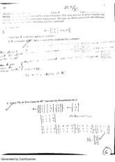 Linear Algebra exam 2