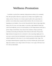 Wellness Promotion
