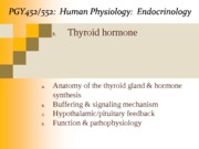 Lecture 9-Thyroid Hormone