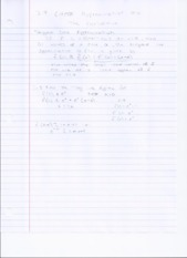 3.9 - Linear Approximation