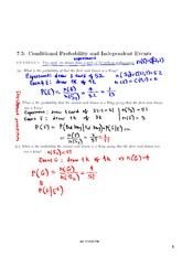 Conditional Probability and Independent Events Review
