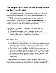 The Empirical School or the Management by Customs School.docx