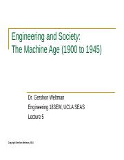 05 - The Machine Age 1900 to 1945