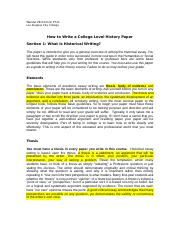 How to Write a College Level Histoy Paper-2
