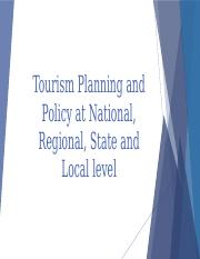 Tourism Planning and Policy (Kathleen Kaye Bermas)