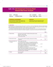 Lab 11A Self-Assessment Coronary Heart Disease Risk Factor Analysis Complete
