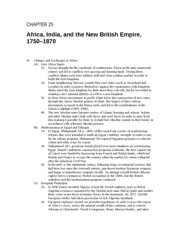 ch25: Africa, India and the New British Empire