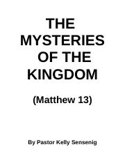 The Mysteries of the Kingdom.doc