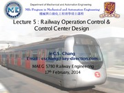 Lecture 5 - Railway Operation Control and Control Center Design v1.0