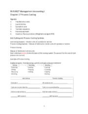 BUSI0027 Management Accounting I Chapter 17 Process Costing