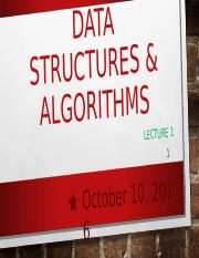 Lecture 1 Data Structures.ppt