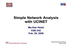 ucinet_slides - Simple Network Analysis Analysis with UCINET