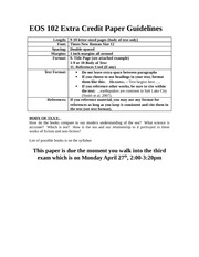 EOS 102 Extra Credit Paper Guidelines