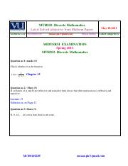 MTH202 - subjectives solved from midterm  papers INCLUDING 2011 PAPERS BY MOAAZ