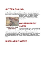 Oxygen Cycling