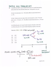 Problem Set Solution on Financial Mathematics for Actuaries