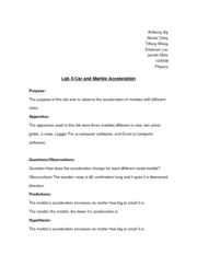 Lab 3-Car and Marble Acceleration Report