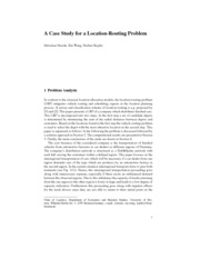 A Case Study for a Location-Routing Problem