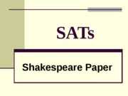 SATs Shakespeare generic