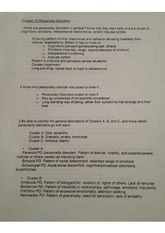 Abnormal Psychology Study Guide