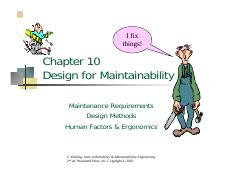 Chapter 10 Design for Maintainability